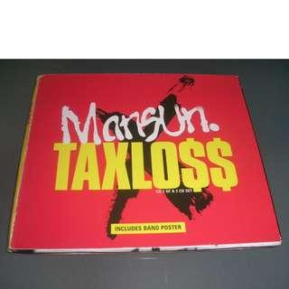 Mansun Taxloss CD 1 single with poster Paul Draper