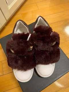 Brand new Ash leather faux fur sneakers 全新真皮毛毛運動鞋