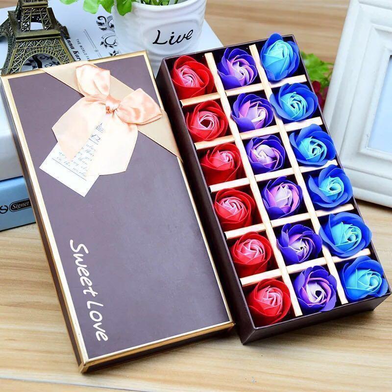 預訂🌹2019 法式浪漫香皂花禮盒 18 朵 漸變色玫瑰 求婚婚禮周年紀念 新年賀年情人節生日 元宵佳節禮物 ROMANIC LOVE VALENTINES ANNIVERSARY WEDDING NEW YEAR BIRTHDAY SOAP ROSES FLOWER BOX  GIFT