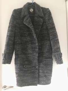 Grey stylish winter coat Fits sized US2