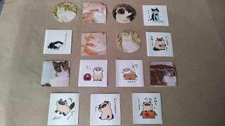 15pcs. Cat Stickers
