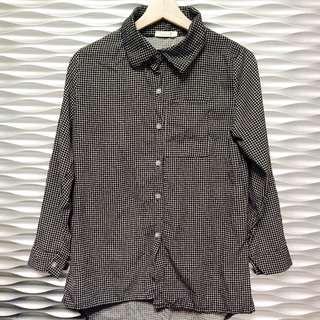 🚚 黑白小格紋襯衫