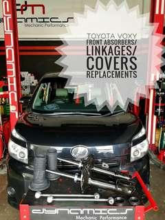 Toyota Voxy : OEM Front Absorbers/Linkages/Covers replacement