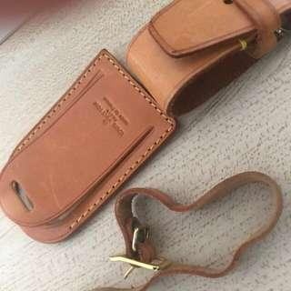 🚚 Louis Vutton Leather Luggage Tags