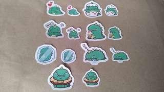 14pcs. Cute Dino Stickers