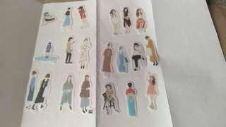 20pcs. Girl Washi Stickers
