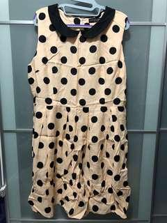 BN Dorothy Perkins Orange Polka Dot Dress