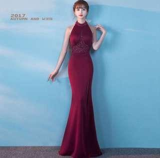 [READY STOCK] Red Maroon Evening Wear