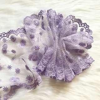 🚚 精緻蕾絲-紫香瑪格麗特
