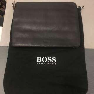 Hugo Boss Genuine Black Leather Document Bag