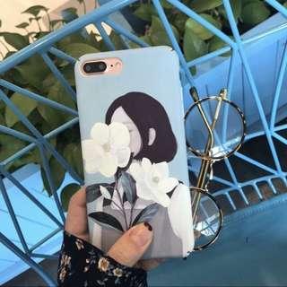 🚚 iphone girl retro flowers phonecase