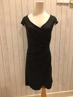 Women's Lady Night Dress Dinner Black Body