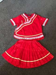 Traditional Chinese outfit for baby girl