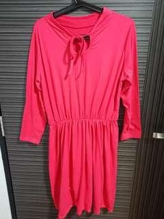 🚚 Plus size elastic dress (peachy pink)