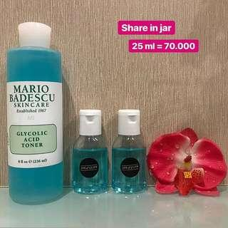 MARIO BADESCU Glycolic Acid Toner. ( share in jar) 25 ml