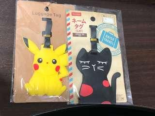 Cat+Pikachu Luggage Tags