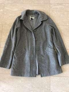 Mango grey wool coat