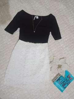 Made in Korea(white) Lace skirt