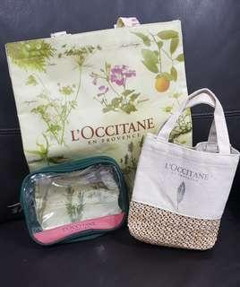 Loccitane bags x3