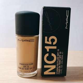 Mac studio fix fluid foundation NC15