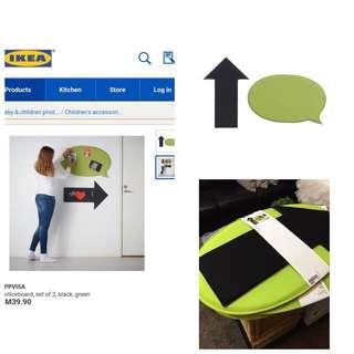 Ikea - Uppvisa Notice Board, Set Of 2, Black/Green