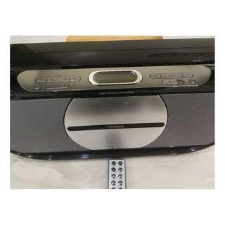 Philip AZ1880 Portabe CD boombox with remote, MP3 USB CDRIpping FM Radio