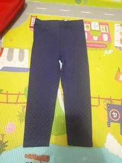 Blue dotted H&M leggings
