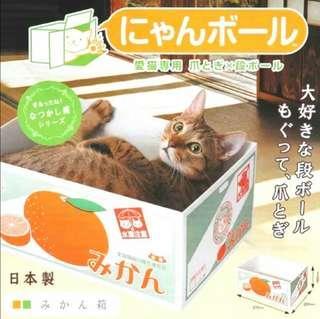全新最抵 *貓貓玩具* 貓抓盒 水果盒 連貓抓板 主子最愛 100%NEW