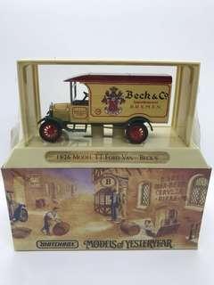 Vintage 1993 Matchbox Beck's