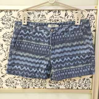 🚚 Blue Pattern Shorts with Pockets