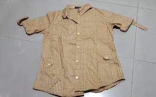 Checker brown top (size 40)