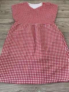 🚚 格紋連衣裙女童92cm
