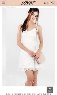 🚚 Lovet's Flirty White Dress