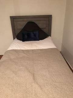 King Single bed near new with mattress