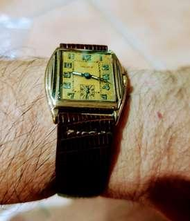 Antique MAJEX 9ct solid gold watch