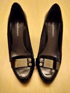 Enzo Angiolini high heels leather shoes         黑色真皮高踭鞋 by Angiolini