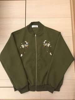 韓版橫須賀刺繡外套