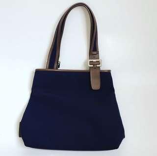 Anne Klein Blue Canvas Bag