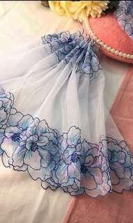🚚 精緻蕾絲-藍田花間