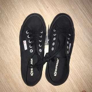 all black superga