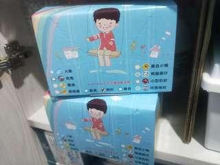 🚚 MIT 康匠 兒童平面素面口罩 藍色 ~ 單盒賣場