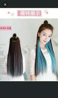 (NO INSTOCKS!)Preorder Two tone ombre gradient dip dye clip on straight hair extension * waiting time 15 days after payment is made * chat to buy order