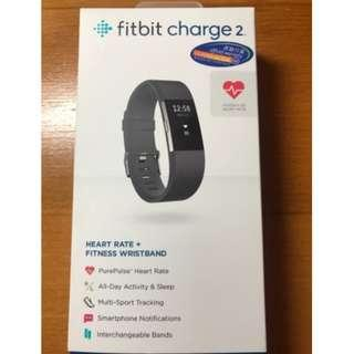 fitbit charge 2 - comes with a black and a blue strap