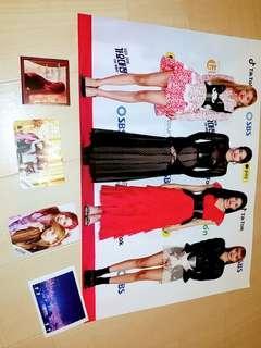 Blackpink poster +Lisa sticker+3 message card