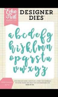 echo park paper co calligraphy text die cut template