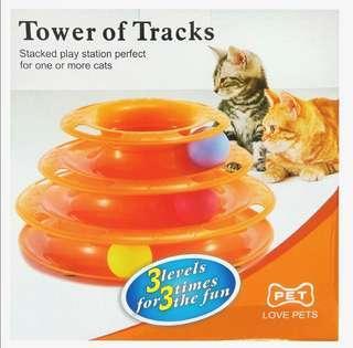 全新 *貓貓玩具* 三層貓轉盤 主子玩到不停手 100%NEW