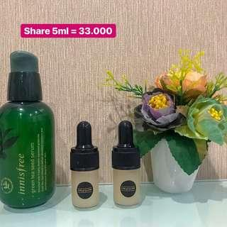 innisfree green tea sead serum ( share in jar ) 5 ml