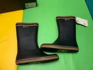 aigle women's malouine wellington boots - noir camel 女裝 水鞋 雨靴