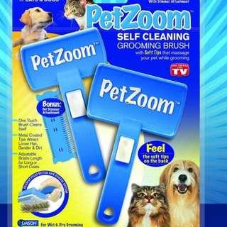 Petzoom cleaning n Grooming Brush for Cats & dogs