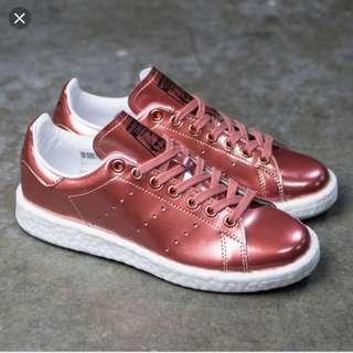 Adidas Copper Metallic Stan Smith with Boost Soles